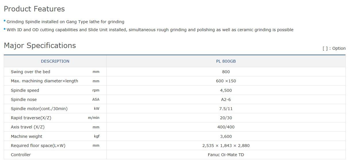 SMEC Gang CNC Turning Center PL 800GB 1