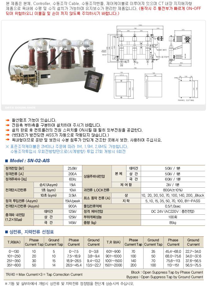 (주)삼능 옥내용 고장구간 자동개폐기 (A.I.S.S) SN-02-AIS