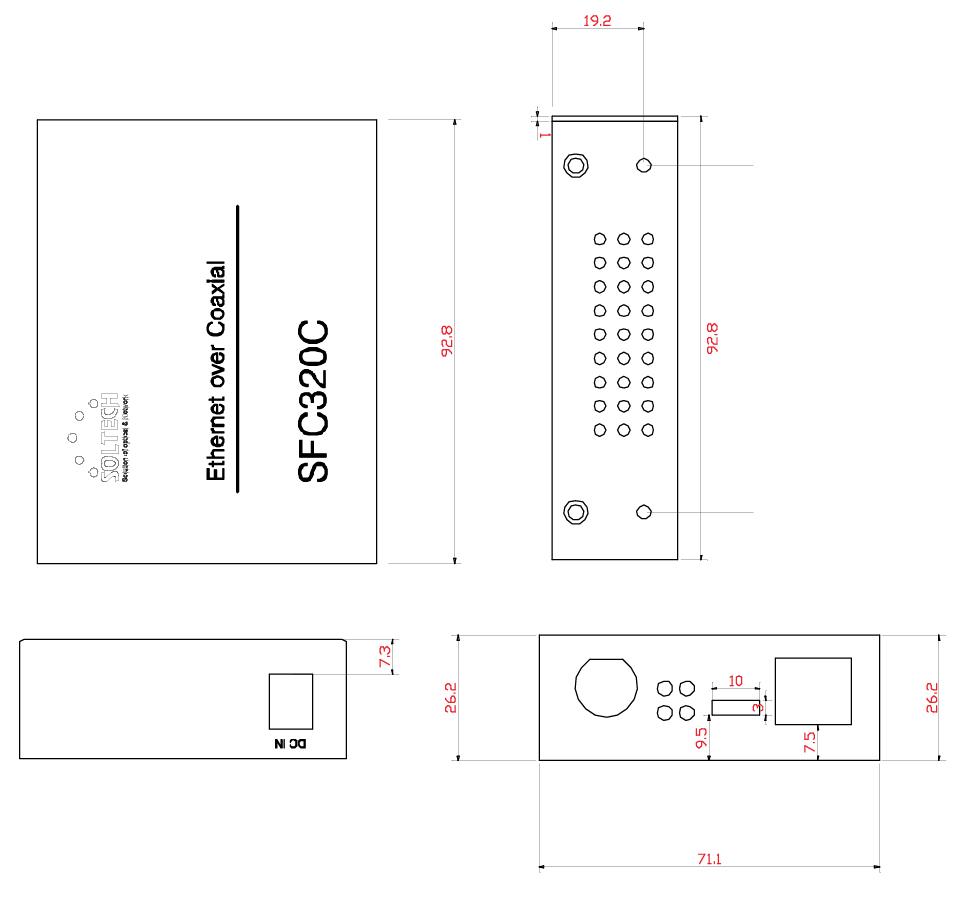 Sol-Tech BNC Ethernet Converter SFC320C 1