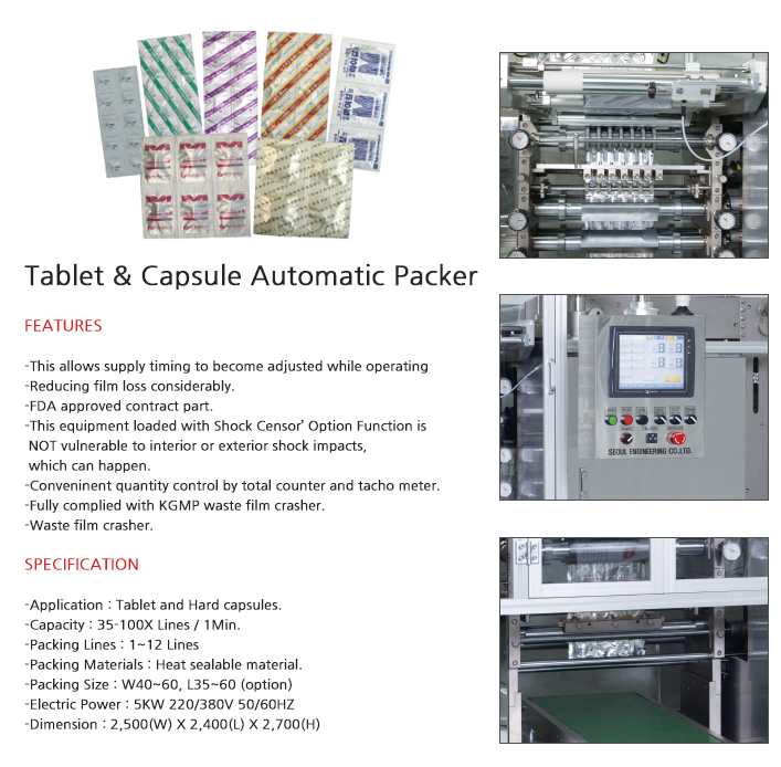 SOMA Tablet&Capsule Automatic Packer SM-500
