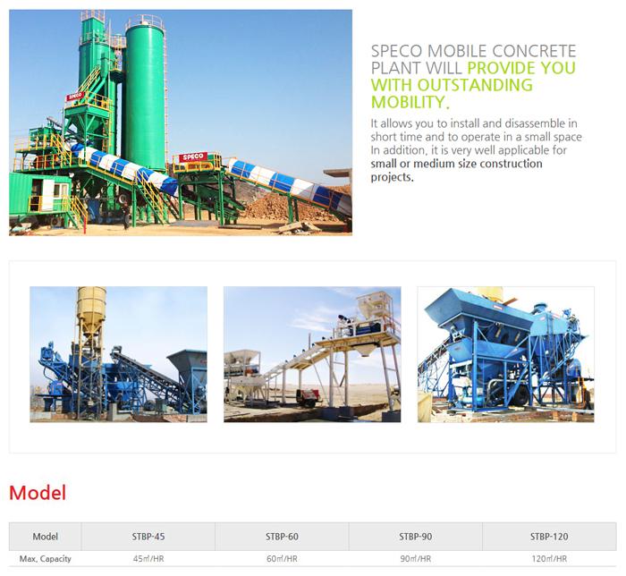 SPECO Mobile STBP-45 / 60 / 90 / 120