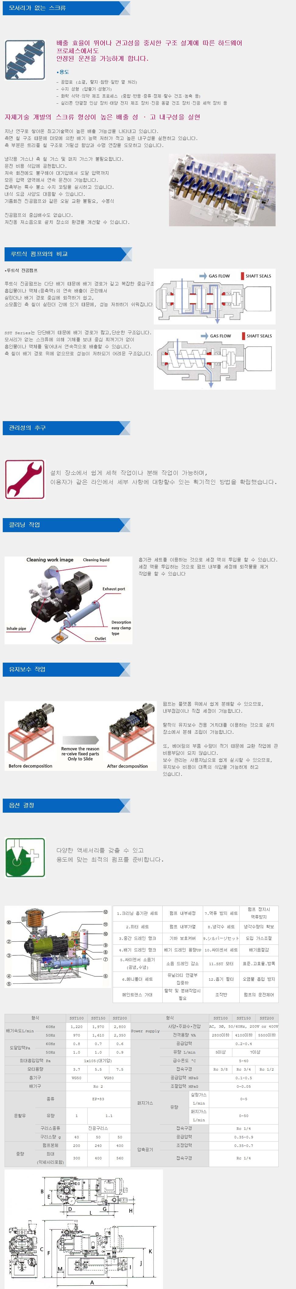 (주)노아텍-트라 드라이 펌프 SST Series 1