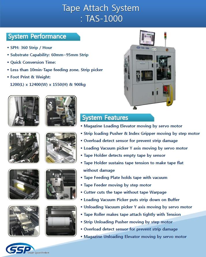 SSP Tape Attach System TAS-1000