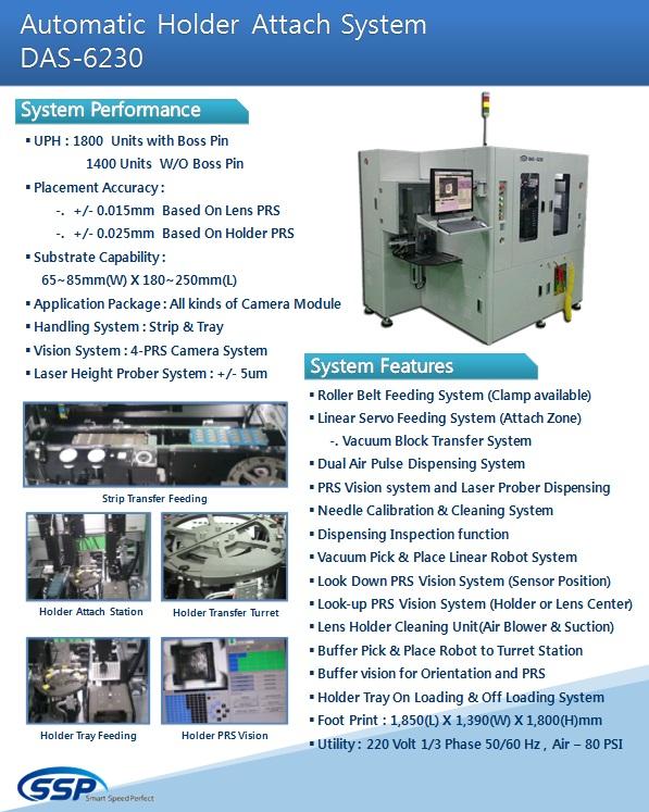 SSP Automatic Holder Attach System DAS-6230