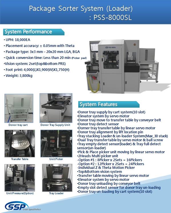 SSP Package Sorter System (Loader) PSS-8000SL