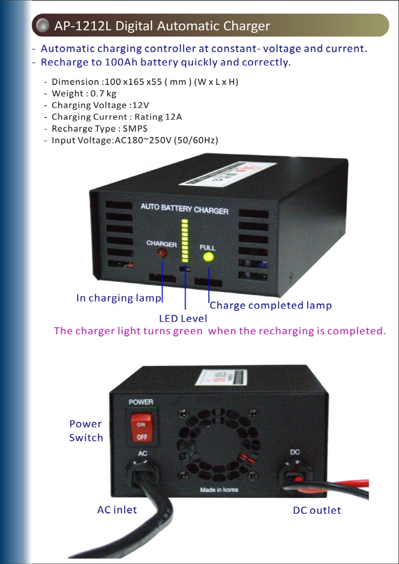 STEAMJET Digital Automatic Charger AP-1212L