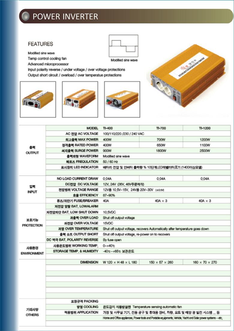 STEAMJET Twinkle Power Inverter 1200L