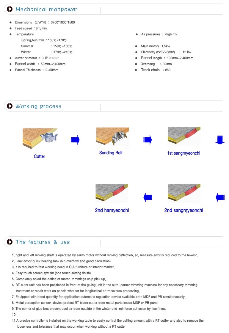 SUNG HWA WOOD Heat Transfer M/C (1-Cutter, 3-Rubber Rollers)