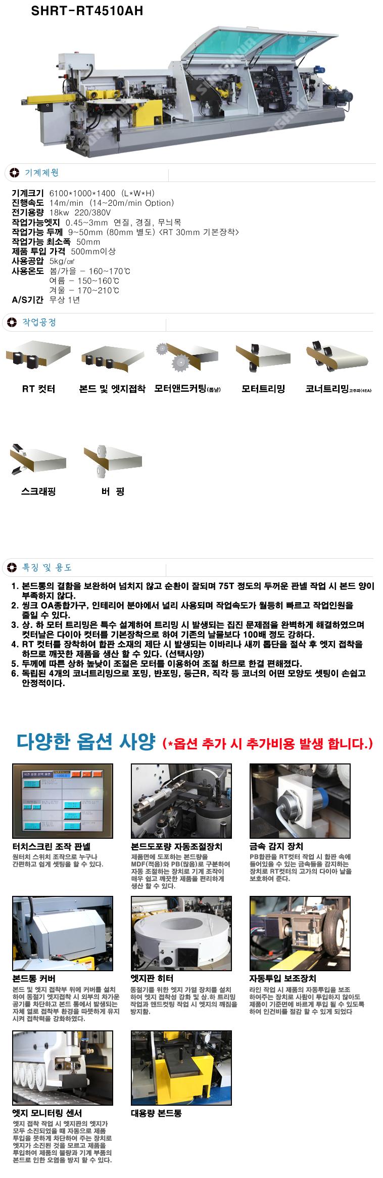 (주)성화우드라인 코너트리밍 엣지밴딩기 SHRT-RT4510AH 1