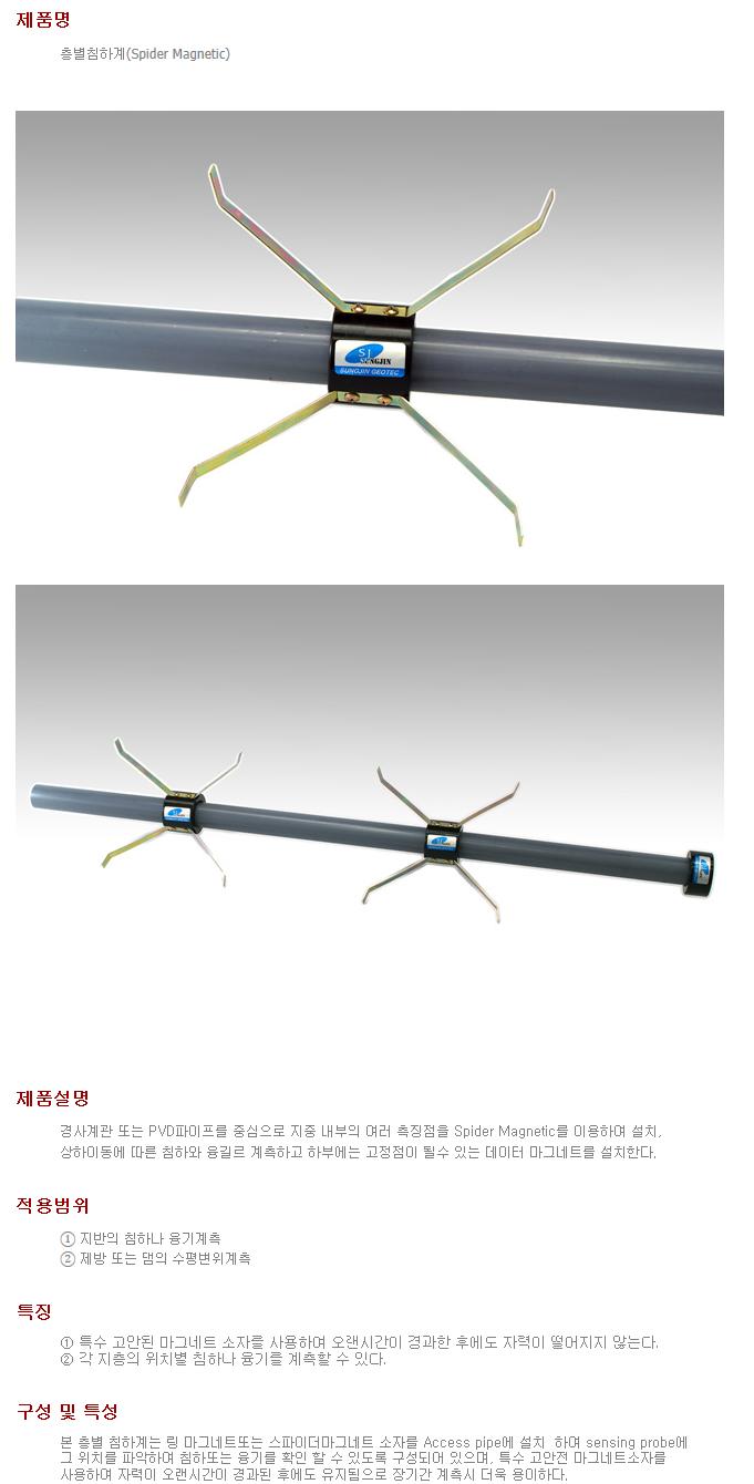 성진지오텍 층별침하계 (Spider Magnetic)