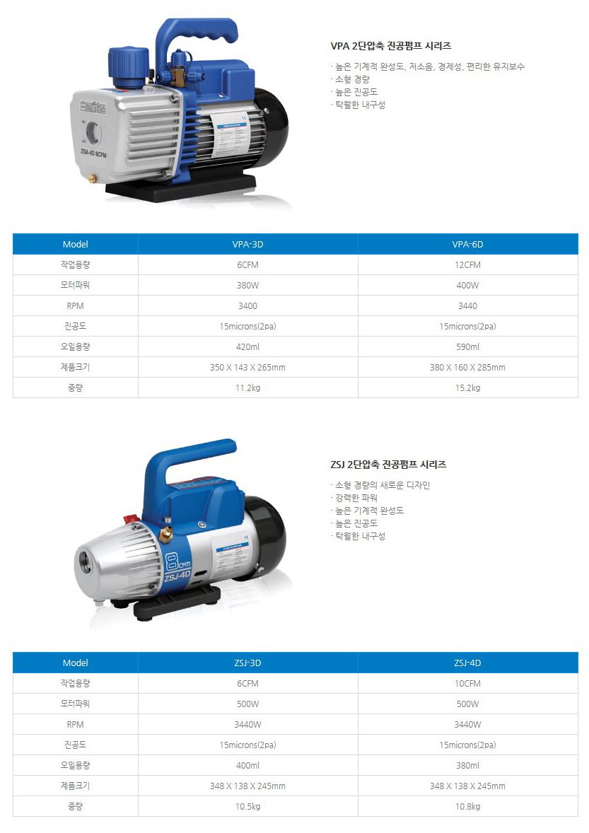 성신하스코(주) 진공펌프 VPA-3D, VPA-6D