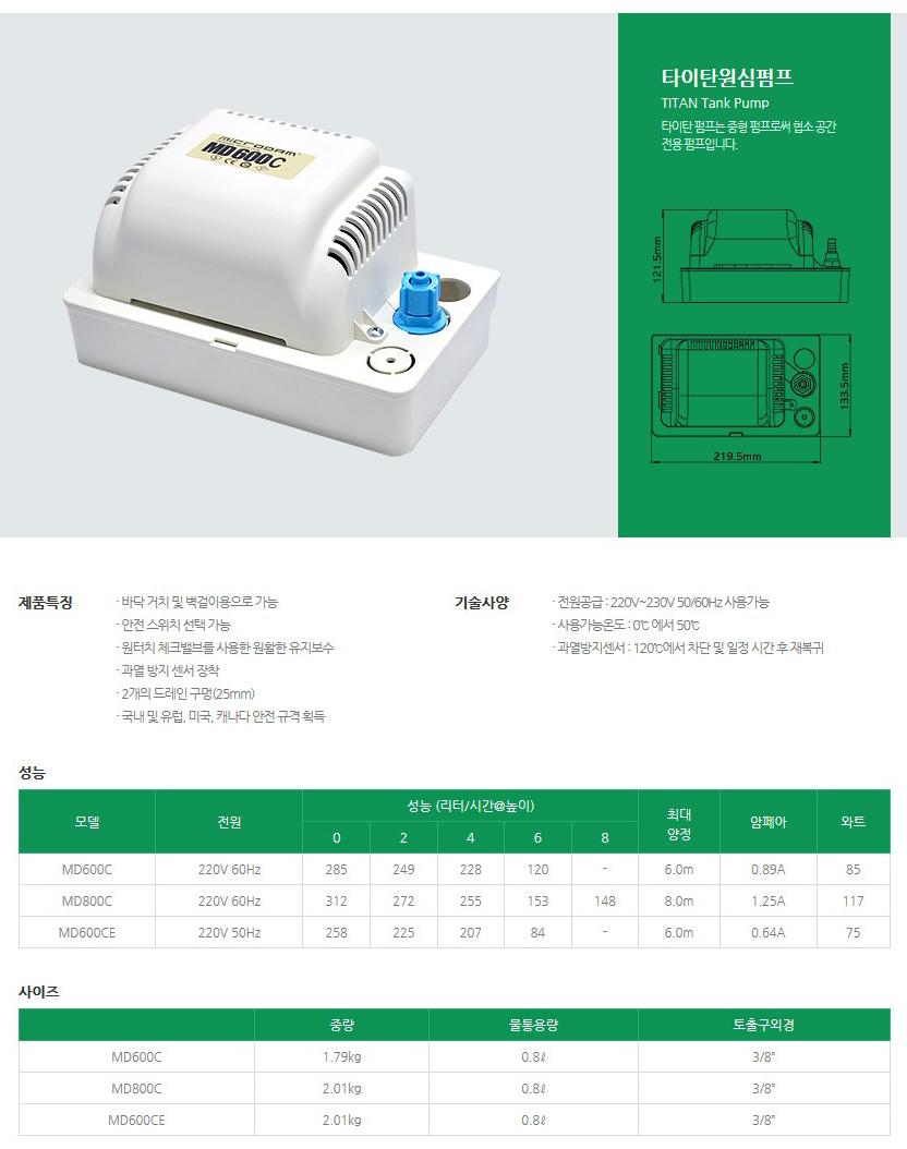 성신하스코(주) 타이탄 원심펌프 MD-Series 1