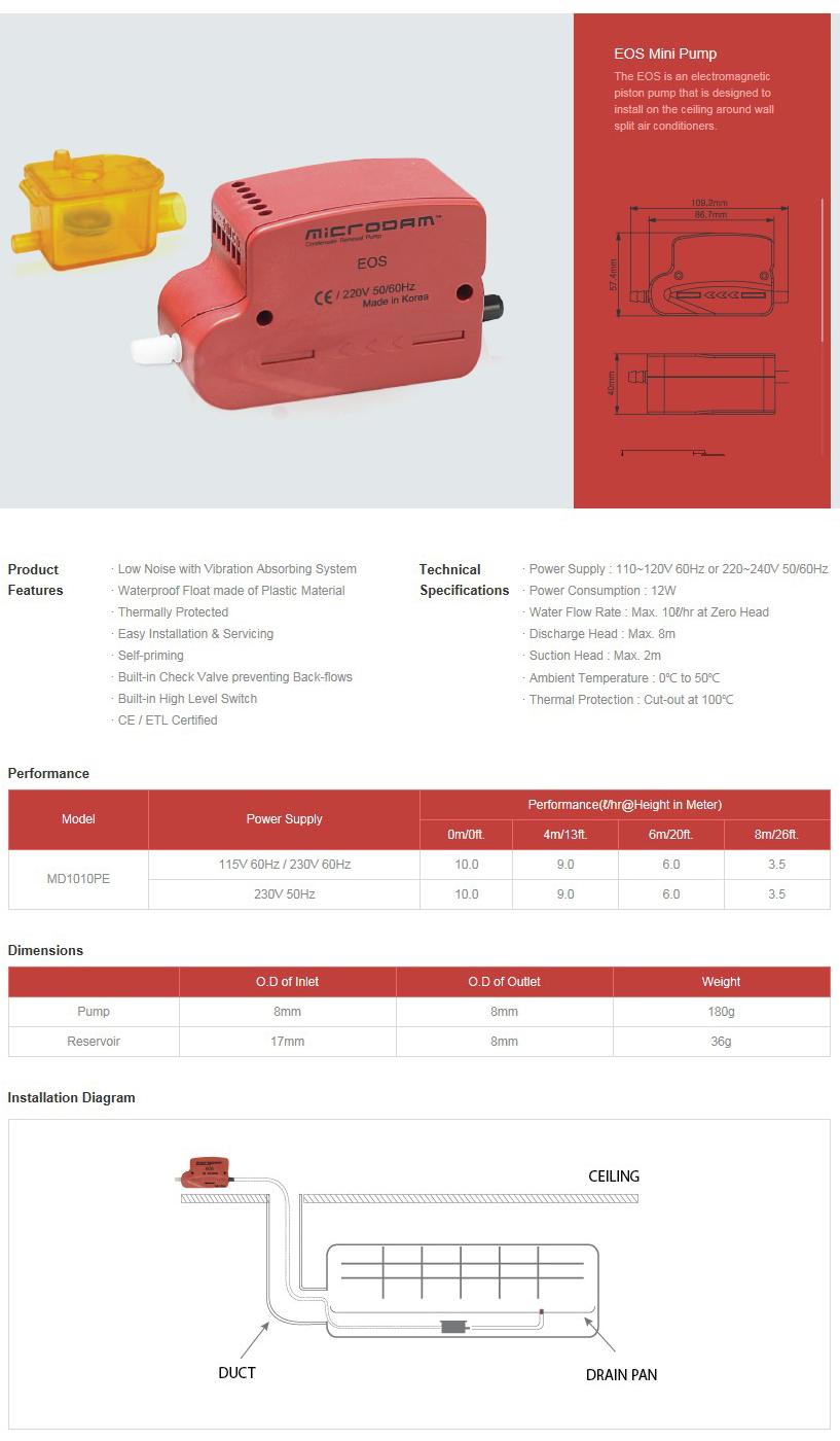 SUNGSHIN HASCO EOS Mini Pump MD1010PE