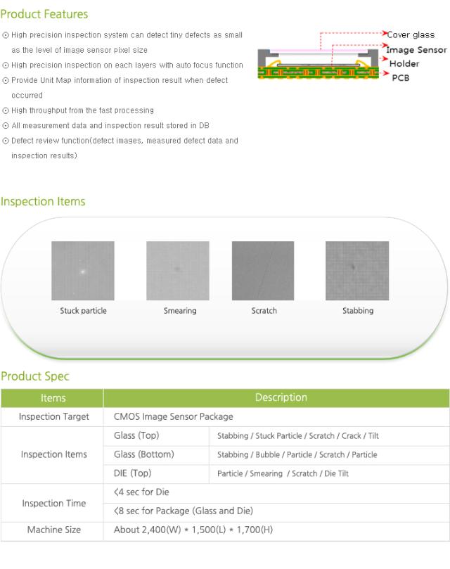 Synapse Imaging Image Sensor Package Inspection System
