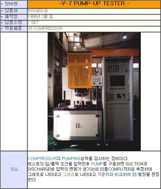태흥산전 V-7 Pump-up Tester