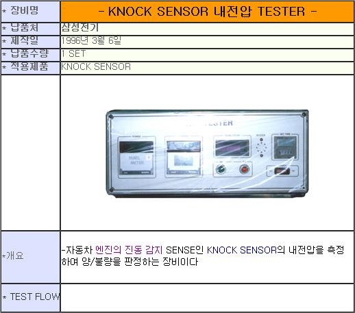 태흥산전 Knock Sensor 내전압 Tester