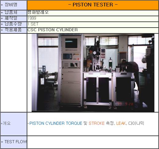 태흥산전 Piston 성능 검사기