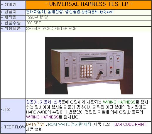 태흥산전 Universal Harness Tester