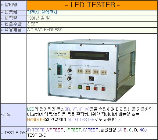 태흥산전 LED Tester