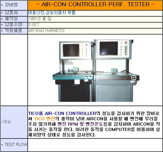 태흥산전 Air-con Controller Perf. Tester