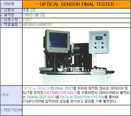 태흥산전 Optical Sensor Final Tester