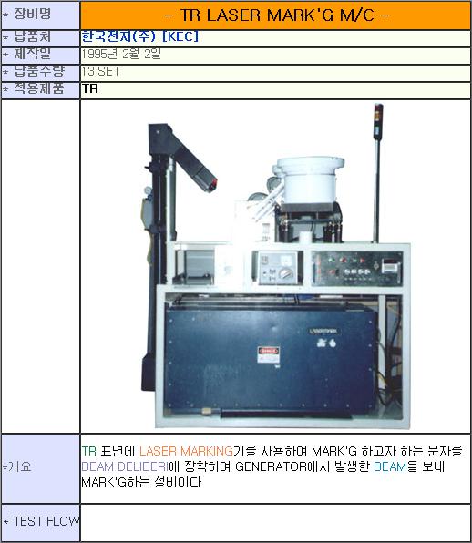 태흥산전 TR Laser Marking Machine