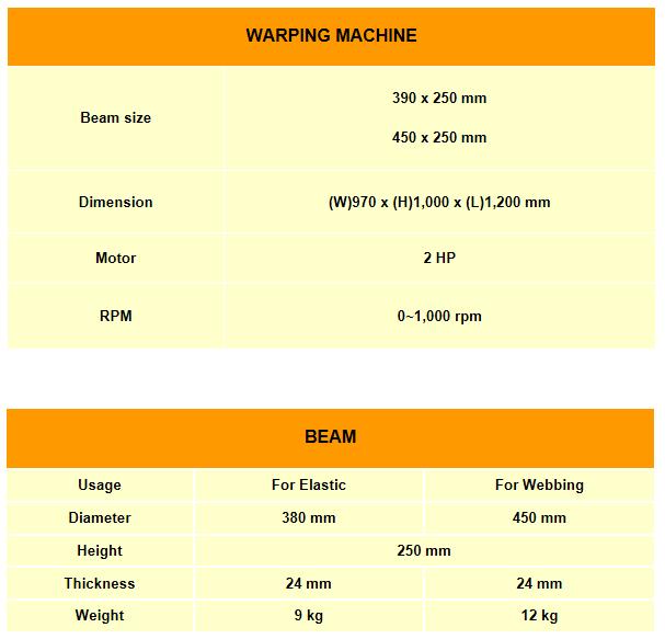 TAESIN Warping Machine, Beam