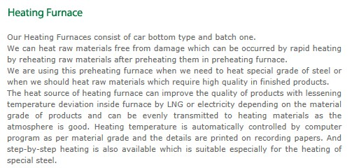 TAEWOONG Heating Furnace