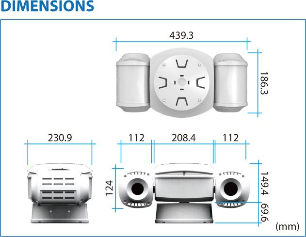 TBT HD Thermal Imaging IP PTZ Camera TPV-IHD 2