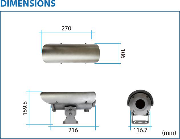 TBT Multi Sensors Thermal Imaging Weatherproof Camera TMV-SWP 1