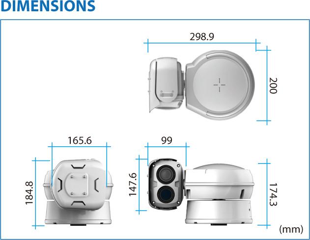 TBT Multi Sensors Thermal Imaging PTZ Camera TPV-BS-BDT 1