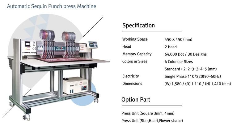 TECHNICS ENGINEERING Automatic Sequin Punch Press Machine ASP-645-2