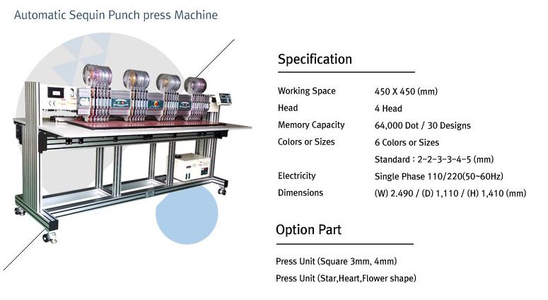TECHNICS ENGINEERING Automatic Sequin Punch Press Machine ASP-645-4