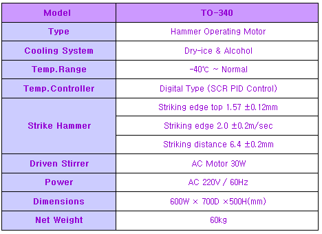 (주)테스트원 내한타격시험기 TO-340 1