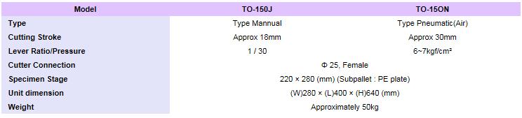 TEST ONE Sample Cutting Machine TO-150N/150J