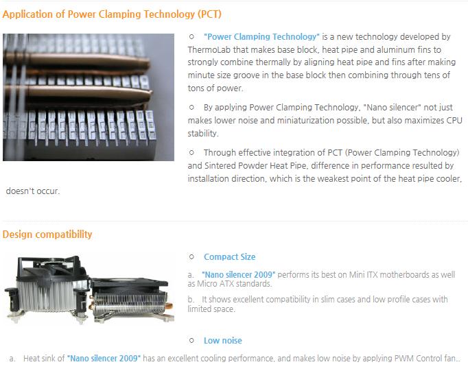 Thermolab CPU Cooler (Ultra Slim, Strong) Nano Silencer 2009