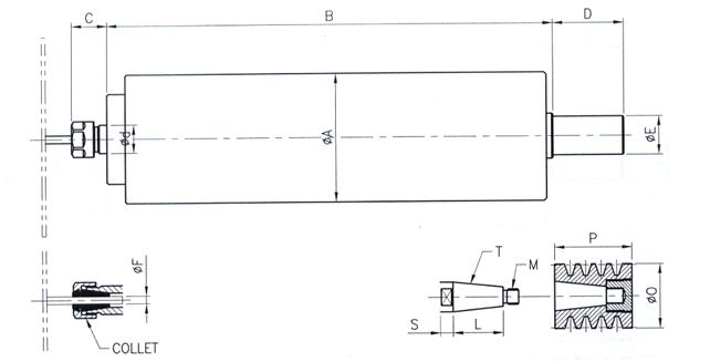 (주)팀스핀들 컷팅용 스핀들 TCer Series