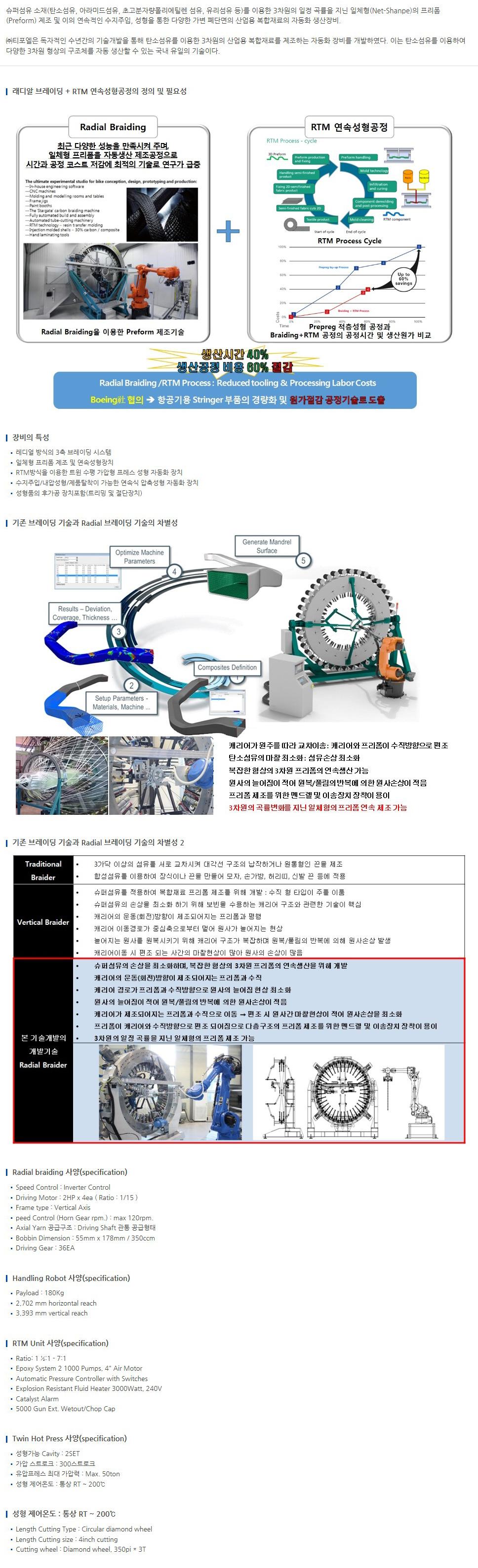 (주)티포엘 Robo Braiding & RTM Machine  1