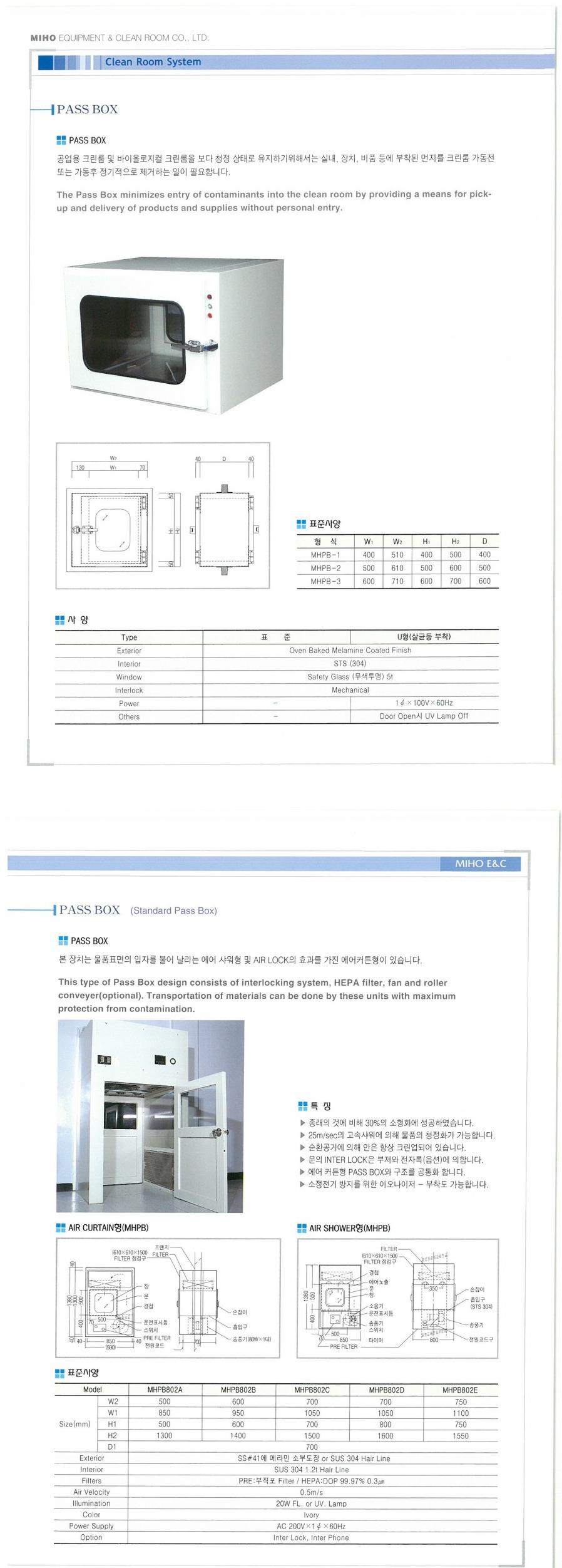 (주)미호이엔씨 패스박스 MHPB-Series