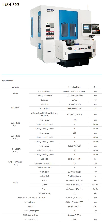 Daesung Hi-Tech High-Speed Glass Processing Machine DSH-37G