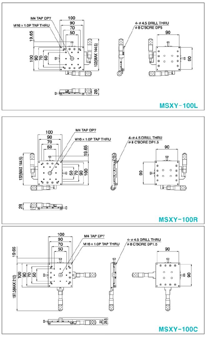 탑텍 박형XY스테이지 MSXY Series 23