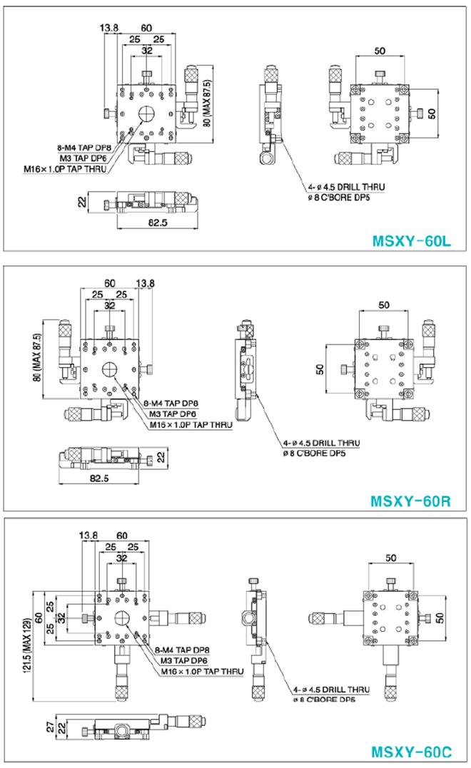 탑텍 박형XY스테이지 MSXY Series 17