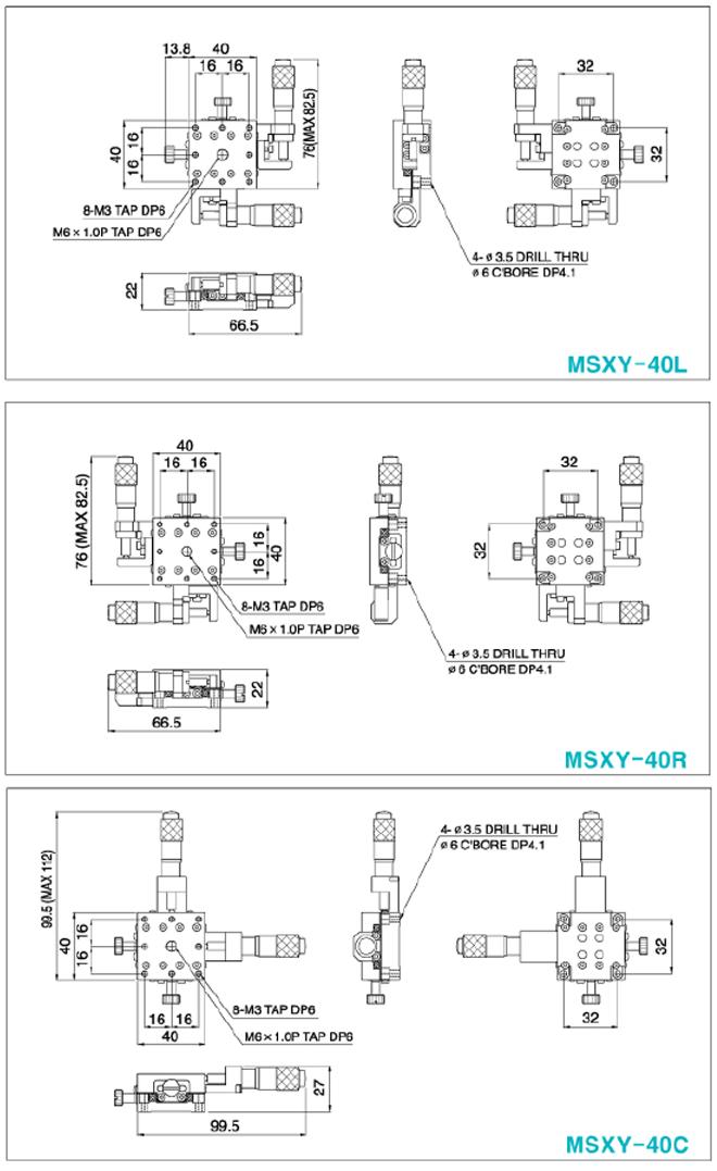 탑텍 박형XY스테이지 MSXY Series 14