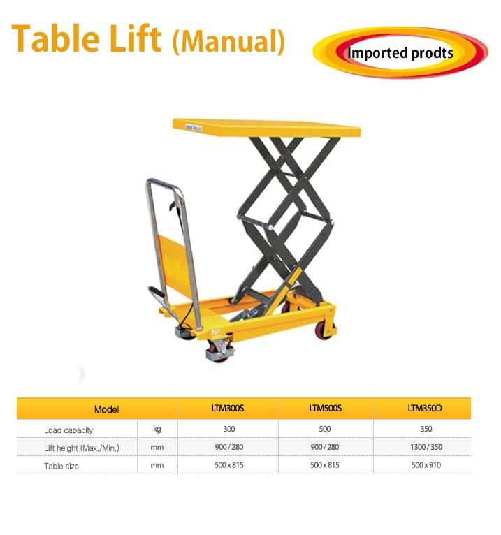 TAEJIN ENG Table Lift (Manual) LTM