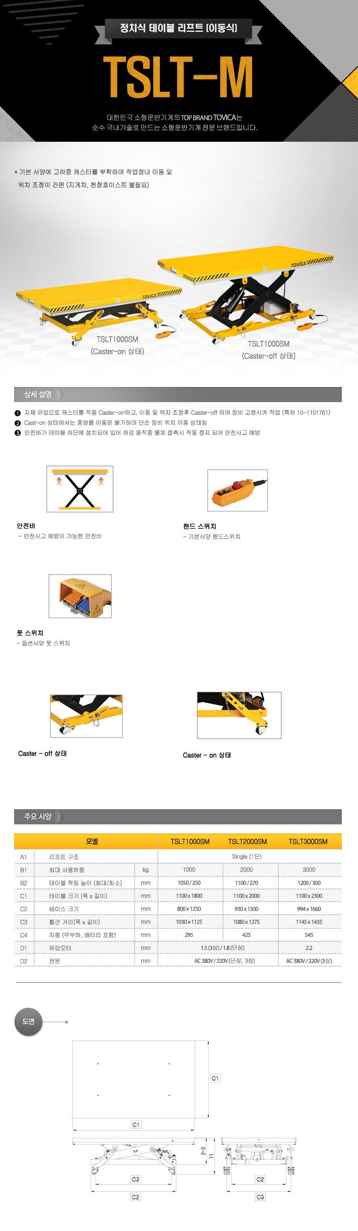 태진이엔지 정치식 테이블 리프트 (이동식) TSLT-M 1