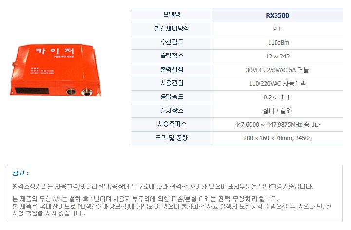 (주)티알 시스템 산업용 무선리모콘 RX3500 1