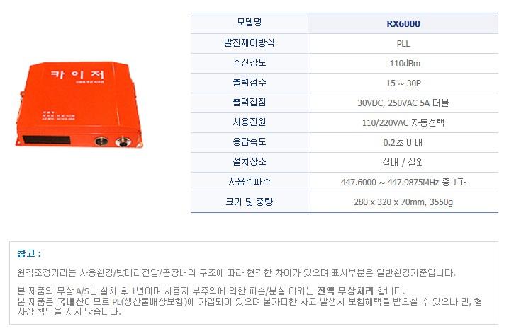 (주)티알 시스템 산업용 무선리모콘 RX6000 1