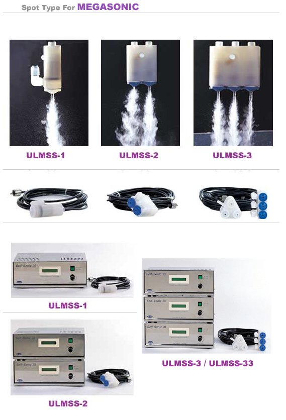 UL-Tech Spot type for Megasonic ULMSS-1/2/3