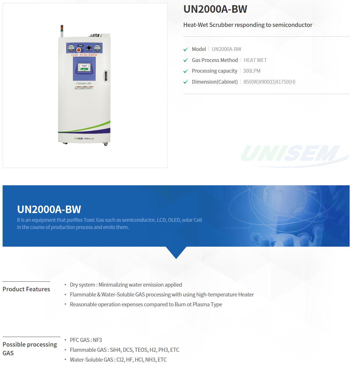 UNISEM Heater Type Scrubber
