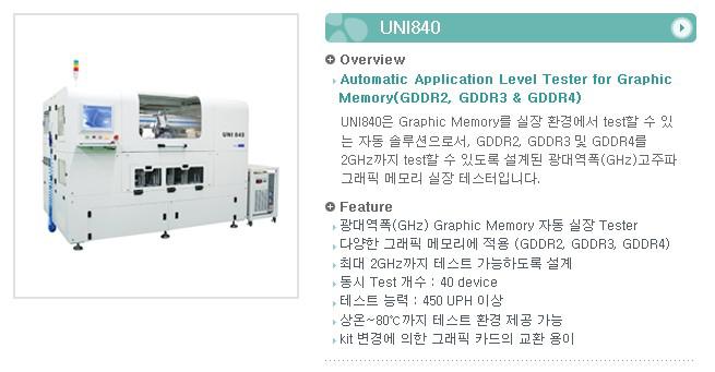 유니테스트 Application Level Tester UNI840 1